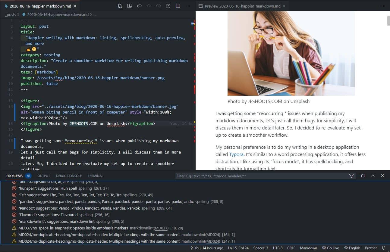 vscode markdown编辑